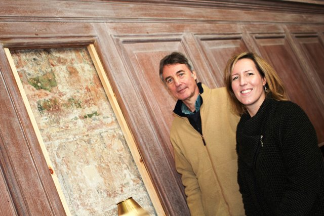 Hidden paintings uncovered at Guild Chapel