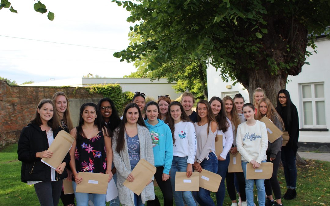 Smiles all round as Saint Martin's girls celebrate outstanding GCSE results