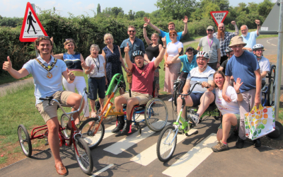 Accessible cycling pedals into Stratford