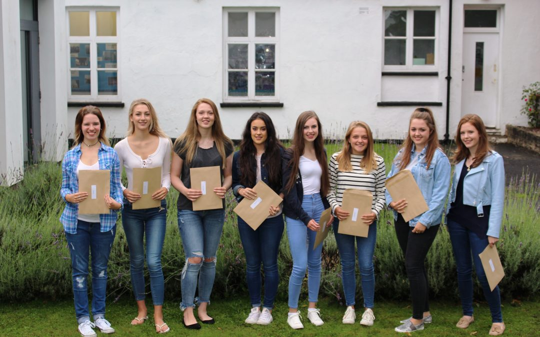 Saint Martin's girls jumping for joy after another great year for A-level results