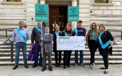 Petitioning for #BetterPay4SocialCare